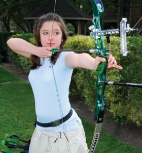 "Margaret Fowler, 13, likes that archery is ""a thinking sport."""