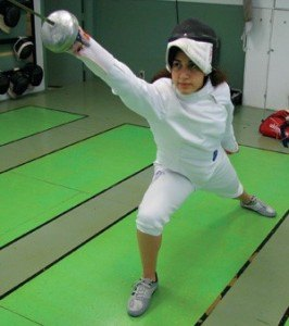 Liz Donnenberg, 15, likes the mental aspects of fencing used to figure out her opponents.