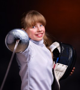 young girl fencer