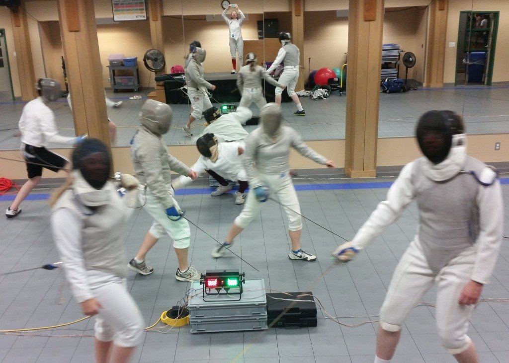 Epee, foil and saber at Houston Sword Sports