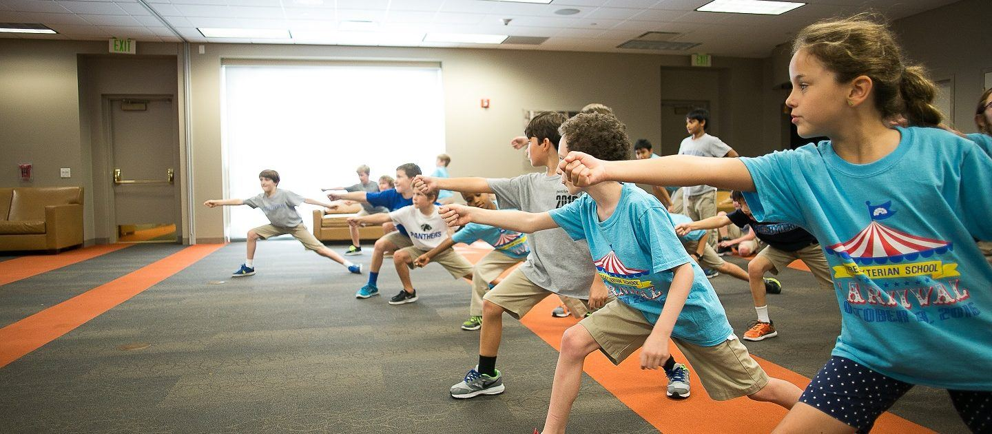 Presbyterian students practice lunging