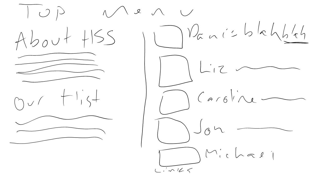 Liz's terrible mockup for the about us page