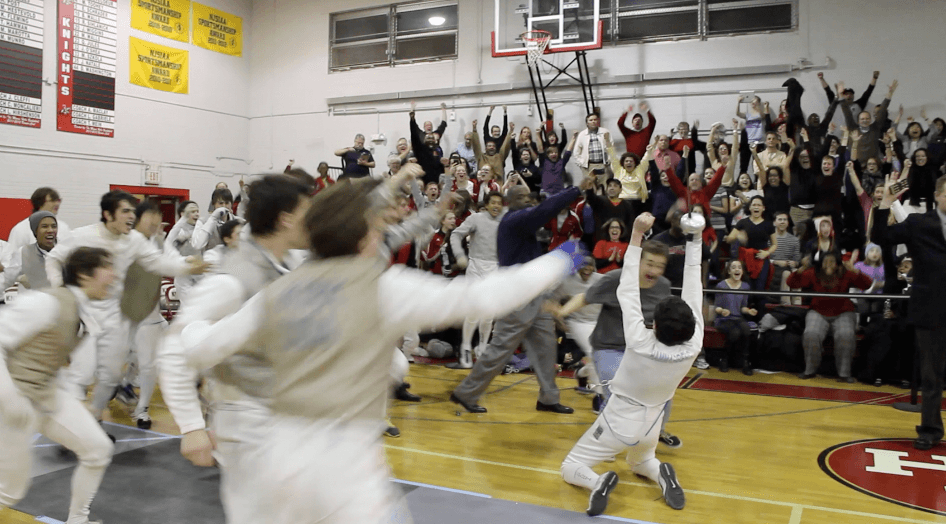 Victory at the NJISAA Team Championships. Photo Credit: fencingfortheedge.wordpress.com
