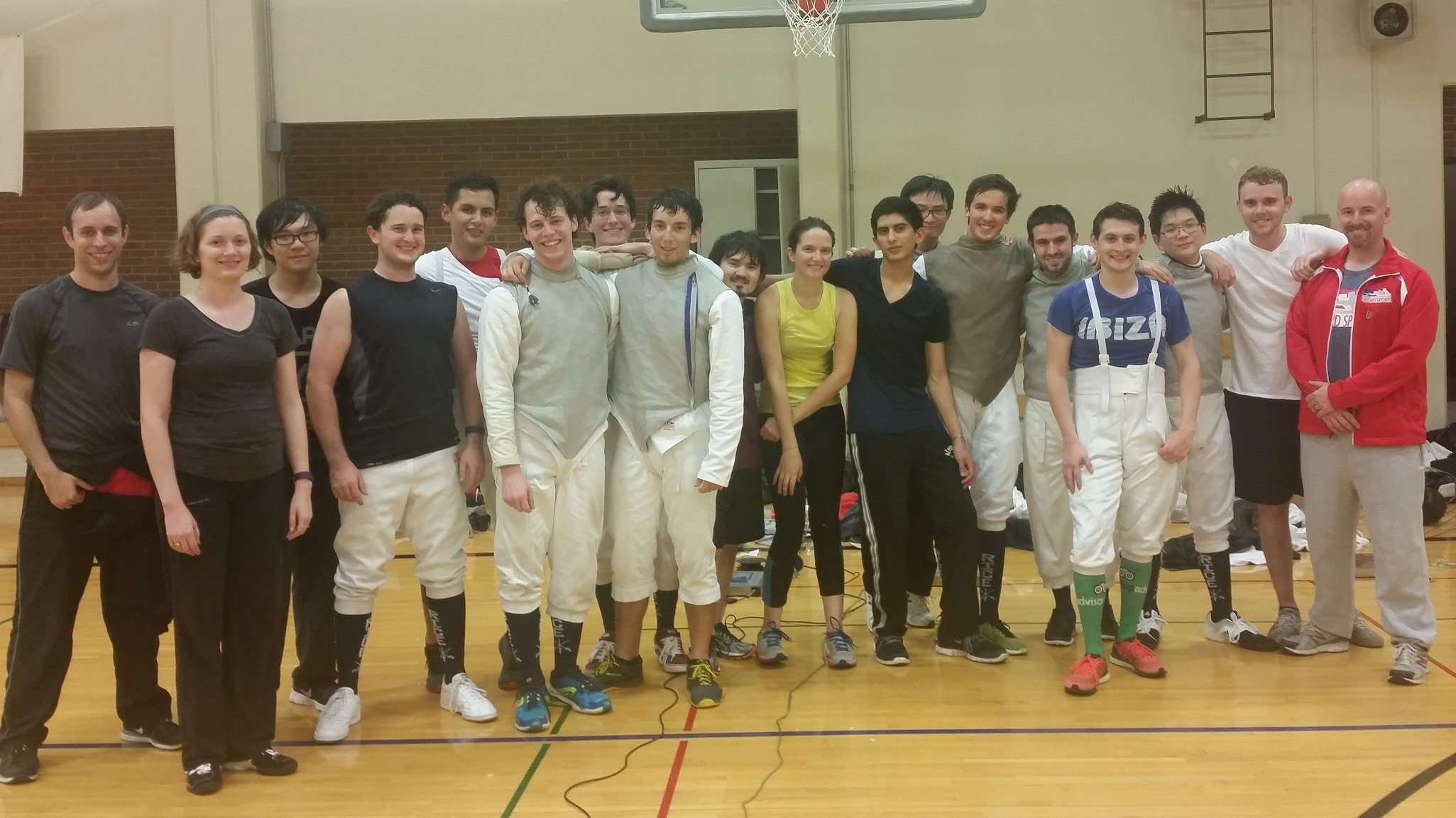 college fencing team at swifa
