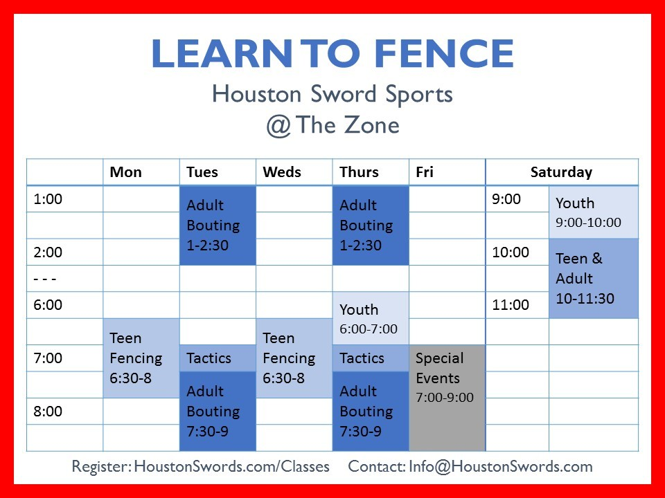 fencing in houston Archives | Houston Sword Sports