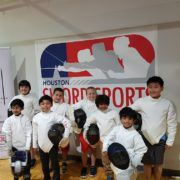 Y8 fencers before the tournament