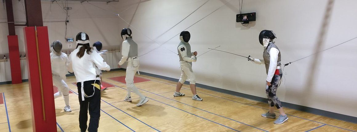 open fencing at the grand opening