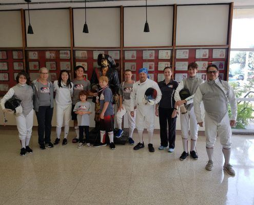 HSS Fencers at the Laffite in the morning