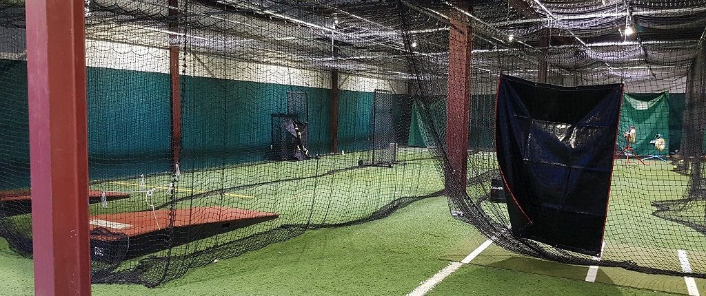 The batting cages shortly before they became a fencing club