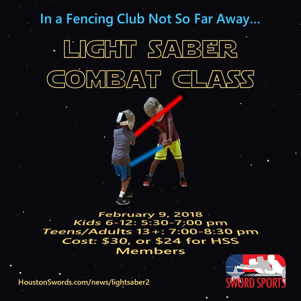 Learn to Fight with a Light Saber | Houston Sword Sports