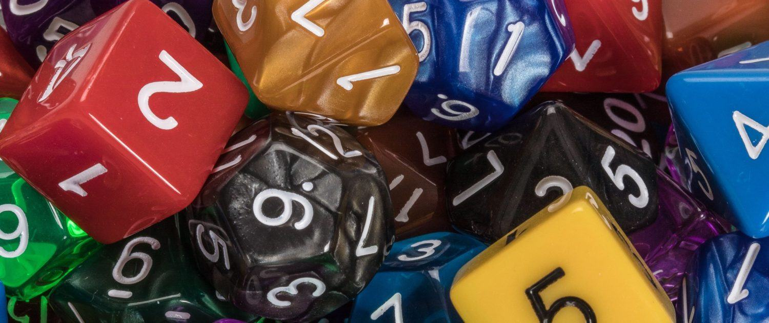 Polyhedral dice for d&d