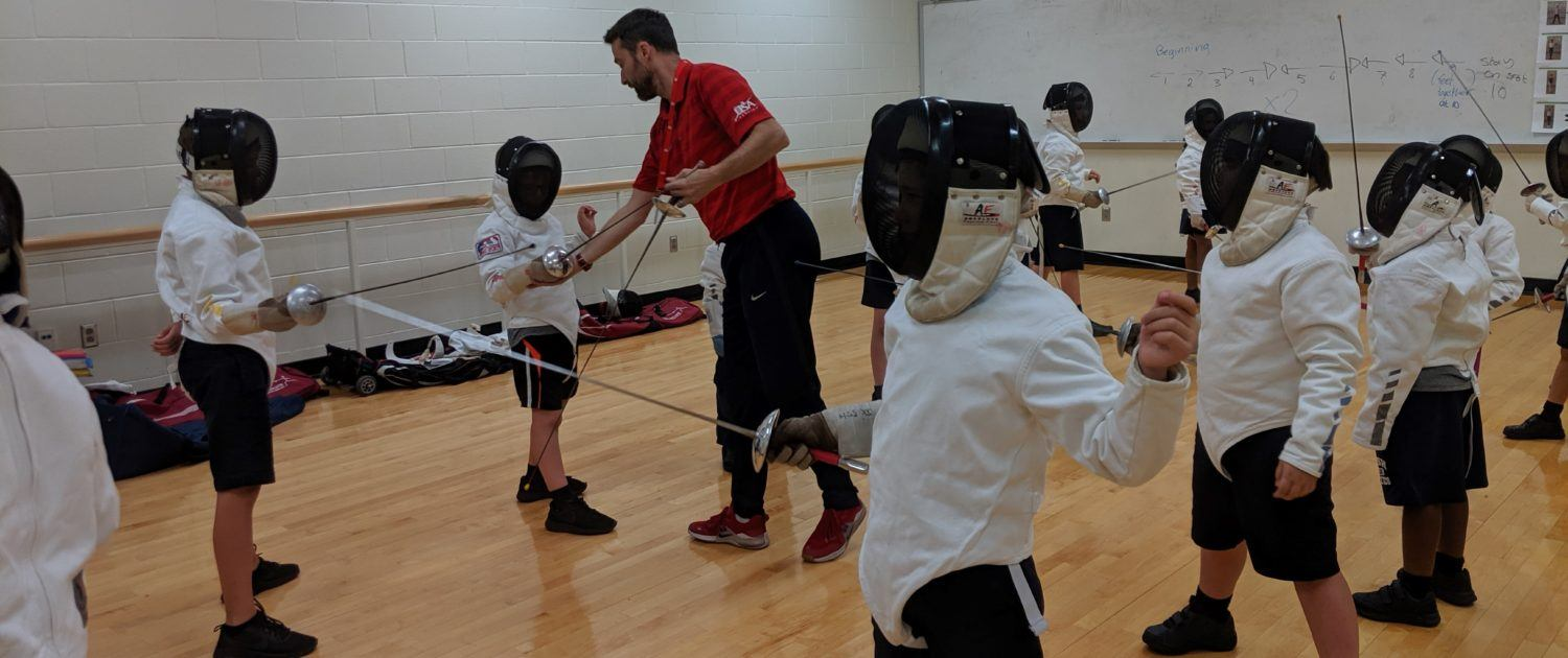 Fencers at the British School in Katy, site of the new Houston Sword Sports - West.